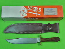 US 1991 GERBER Limited Edition Huge Bowie Fighting Knife & Sheath Box Cert