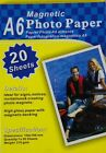 Magnetic Photo Paper 20 high gloss Sheets SIZE 4x6 A6 Magnetic Photo Paper craft
