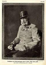 Deutschland & Österrreich-Ungarn Hand in Hand: Kaiser Franz Josef 84.Geb.v.1914