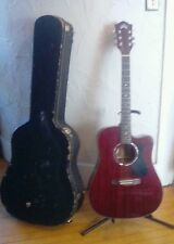 Guild D-125CE All Solid Mahogany Red Acoustic-Electric Guitar w/ Case