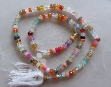 "14"" Strand Mixed Gemstone Small Faceted Rondelle Beads 4mm ~ Opal ~ Chalcedony"