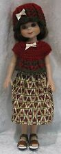 "Handmade Clothes for 14"" BETSY McCALL dolls ~ Hat, Top & Skirt #58 Prim Hearts"