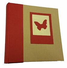 Kenro Greenwood Red Butterfly Photo Albums (Pack of 6)
