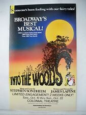 INTO THE WOODS Herald STEPHEN SONDHEIM First National Tour BOSTON Colonial 1989