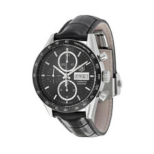 Tag Heuer Carrera Automatic ChronographBlack Leather Mens Watch THCV201AGFC6266