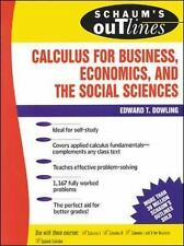 Schaum's Outline Ser.: Calculus for Business, Economics, and the Social...