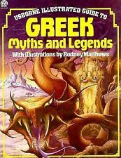 Greek Myths and Legends (Usborne Illustrated Guide)-ExLibrary