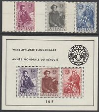 BELGIUM : 1960 World Refugee Year  set + Min.Sheet  SG 1716-8+MS1719 MNH