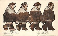 A87/ Cleveland Ohio Postcard 1908 Wade Park 4 Views Fat Man Comic