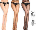 Sexy Women Lady Crotchless Suspender Tights Sheer Fishnet Open Crotch stockings