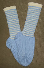 NEW Warm and Soft Hand Knit Socks (9.0 inches length)