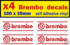 4 X Freno Brembo calcomanías Rally Carrera Auto Deportivo Racing van Mini Bus Camión pegatina