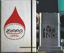 Sehr Selten Zippo Barcroft No. 4 FACT Cigarettes 2 Side 1970´s MIB RAR !