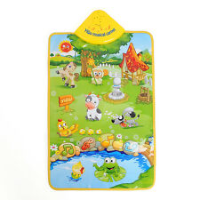 Music Sound Farm Animal Kids Baby Children Play Playing Mat Carpet Gym Toy