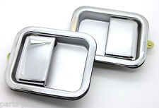 New Chrome Full Door Exterior Outside Handle PAIR / 1987-06 WRANGLER YJ & TJ