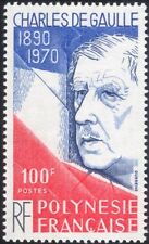 French Polynesia 1980 General Charles de Gaulle/People/Military/WWII 1v (n45577)