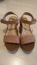 * SALE!! Dr Kong Brown High Heel Wooden Style Shoes RRP £70