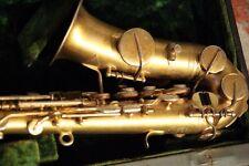 1922 Buescher Tru-tone Gold-plated Curved Soprano Saxophone + Trutone Mouthpiece