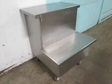 """""""LOW TEMP"""" H.D. COMMERCIAL 100% S.S. 2 STEPS WORK/EQUIPMENT COUNTER ON CASTERS"""