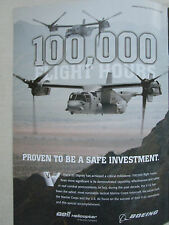 6/2011 PUB BELL HELICOPTERS BOEING V-22 OSPREY 100.000 FLIGHT HOURS ORIGINAL AD