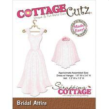 COTTAGE CUTZ WEDDING BRIDAL ATTIRE DRESS DIE CUTTING DIES - NEW UNIVERSAL FIT