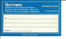 AR-042 - Summers Hardware & Supply Johnson City, TN Zip Code +four Mailing Label