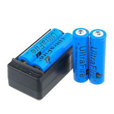 4pcs 3000mAh 18650 Battery 3.7v Li-ion Rechargeable Batteries + USA Charger