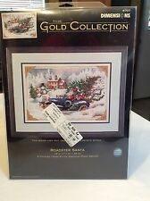 """Dimensions The Gold Collection """"Roadster Santa"""" Counted Cross Stitch Kit"""