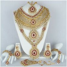 Indian Bollywood Bridal Designer Necklace Earring Kundan Fashion Jewelry Set