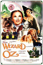 Wizard of Oz Movie Poster Signed by 2 Munchkins - Garland, Witch, Bolger