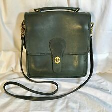 Vintage Coach Dark Green Leather Cross body Bag 0686 908 Made In USA