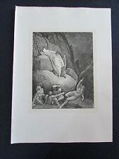 Gravure l'Enfer de Dante..par GUSTAVE DORE..1868 ..L.HACHETTE..