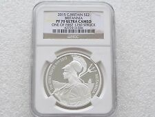 2015 Royal Mint Britannia £2 Two Pound Silver Proof 1oz Coin NGC PF70 UC