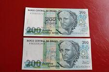 * brasil 2x200 cruzados un sello con * (ord2)