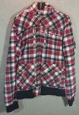 Quicksilver Lined Flannel Jacket Coat Medium Red