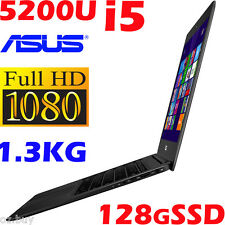 "ASUS Zenbook UX305LA 13.3"" FHD Core i5-5200U 4GB 128GB-SSD Ultrabook 12hr Battry"