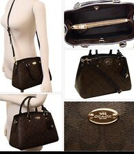 New COACH Signature Mini Margot Carryall- Handbag/Purse - F34605 - Brown/Black