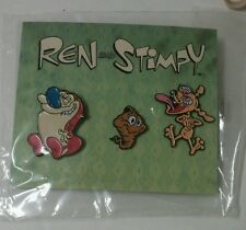 SDCC 2016 Comic Con Ren and Stimpy button pin Nickelodeon The Splat