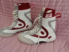 Womens HUK FREDDY BOXING High top boots- size USA 7.5 EU 38.5 Sport Red/Silver
