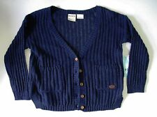 Roxy Girls Patch Pocket Long Sleeve Cardigan Sweater Astra Aura Sz 6 - NWT