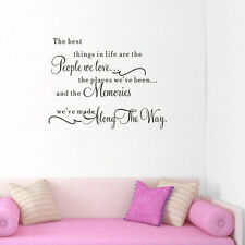 The Best Things Vinyl Quote Lettering Decal Mural Room Decor Home Wall Sticker