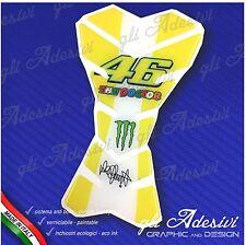 Paraserbatoio Resinato Sticker 3D Valentino Rossi 46 GIALLO Moto