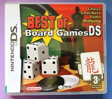 BEST OF BOARD GAMES NINTENDO DS LITE DSi GAMES CHESS, MAHJONG etc brand new UK