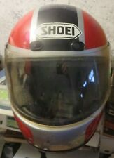 SHOEI SNELL M85 vintage Full Motorcycle Helmet Size M Black Red