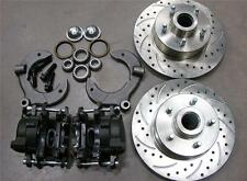 "MUSTANG II 2 FRONT 11"" DRILLED ROTOR UPGRADE DISC BRAKE KIT FORD NO SPINDLE"