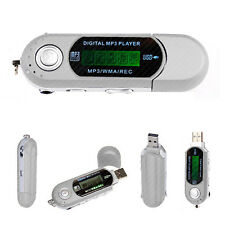 4GB MP3 PLAYER SILVER POCKET USB SLIM THIN MULTIMEDIA MUSIC WITH FM RADIO