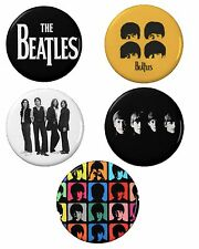 The Beatles Button Set (5) 1 1/4''