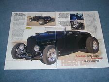 """1929 Ford Model A Highboy Roadster Street Rod Article """"Heritage"""""""