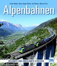 Fachbuch Alpenbahnen, Deutschland, Österreich, Schweiz, viele Strecken mit Fotos