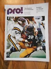 Old Vintage 1973 Pro! Green Bay Packers Minnesota Vikings Science of Linebacking